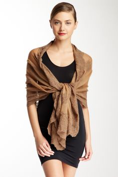 Valentino Brown Shawl