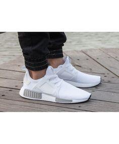 ac22528da1202 Adidas NMD R1 Mens White And Wolf Grey Shoe Adidas Nmd R1 Mens