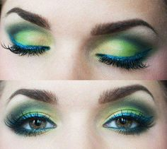 Green and blue eyes make up pinned with @PinvolveLove