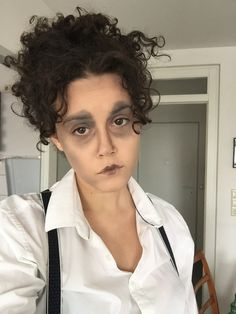 Easy Edward Scissorhands makeup