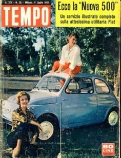 Fiat 500 presentation on magazine