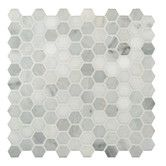 """Found it at Wayfair - 1"""" x 1"""" Marble Honed Mosaic Tile in Arabescato Carrara"""
