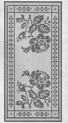 centrino rose   Hobby lavori femminili - ricamo - uncinetto - maglia