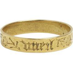 1400-1500 The inscription on this ring, autre ne vueil (desire no other)