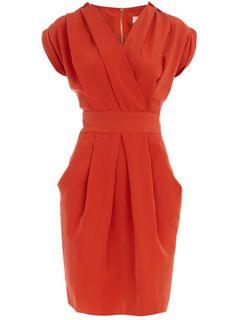 "Love this dress! ++ orange epaulet dress @Ann Marie "" amc - Soulafrodisiac"" Collymore"