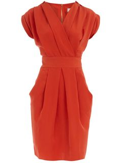 orange epaulet dress