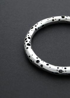 La Voie Lactée  sterling silver cast bangle by LucieVeilleux