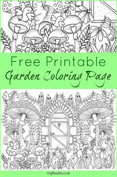 This gorgeous garden coloring page for adults is free for you to download and enjoy. Get it now!