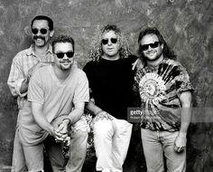 Alex and Eddie Van Halen  Sammy Hagar and Michael Anthony ~ 1995 ❤️
