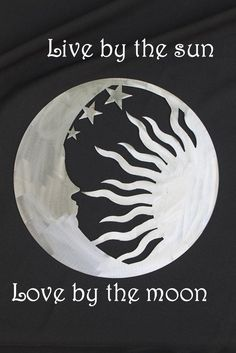 Sun / Moon Wall Art by CharlestonHarborDes on Etsy --- would also be a cool tattoo. Maybe using the negative space.one person have moon/stars and the other have the sun Trendy Tattoos, New Tattoos, Cool Tattoos, Tatoos, Tasteful Tattoos, Awesome Tattoos, Hand Tattoos, Sleeve Tattoos, Tatoo Art