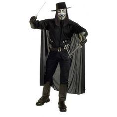 V deluxe. V naamiaisasu tekee kantajastaan tunnistettavan vapaustaistelijan. Elokuvan päähenkilö on pukeutunut Guy Fawkesiksi ja naamiaisasuun kuuluu myös tämäkuuluisaksi tullut naamio. V deluxe on laadukas, yksityiskohtainen, näyttävä ja kantaaottava valinta naamiaisasuksi. Naamiaisasu on standardikokoinen.