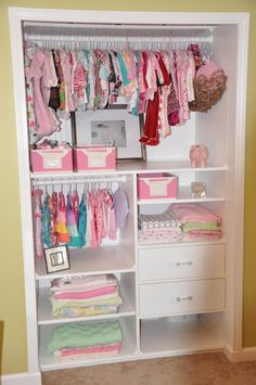 Closet ideas for nursery