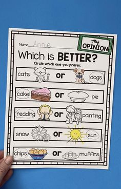 OPINION WRITING - teaching kindergarten first grade and second grade FREE LESSONS