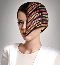 Beautiful avant-garde color pattern by Tindaro Orifici of Germany. #hotonbeauty fb.com/hotbeautymagazine HOT Beauty Magazine