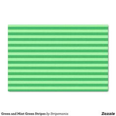 """Green and Mint Green Stripes 10"""" X 15"""" Tissue Paper"""