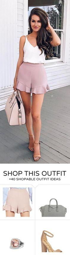 #outfits #summer Alb Tank + Fard de Obraz + zburli scurt Sandale Nude 💕🙌🏼