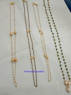 Beaded Jewelry Designs, Beaded Jewellery, Gold Jewellery Design, Gold Jewelry, Jewelery, Beaded Necklace, Necklaces, Black Diamond Chain, Gold Designs