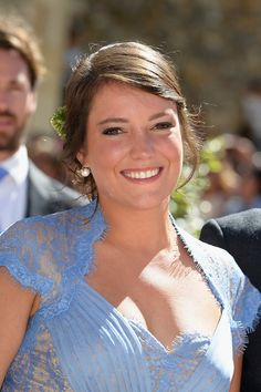 Princess Alexandra Of Luxembourg attends the Religious Wedding of her brother Prince Felix and Claire Lademacher at the Basilique Sainte Marie-Madeleine on 21 Sep 2013 in Saint-Maximin-La-Sainte-Baume, France