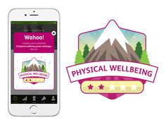 Wellness App Badge by Matt Corrado App Badges, Wellness App, Mobile App Ui, Daily Challenges, Badge Design, Ui Inspiration, Badge
