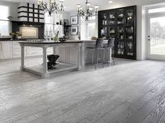 Image result for dark grey hardwood floors kitchen