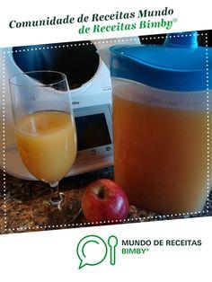 Bimbal de Maçã de Anita Cruz. Receita Bimby<sup>®</sup> na categoria Bebidas do www.mundodereceitasbimby.com.pt, A Comunidade de Receitas Bimby<sup>®</sup>. Anita, Food And Drink, Pudding, Desserts, Juicing, Recipe Journal, Portuguese Recipes, Community, Crack Crackers