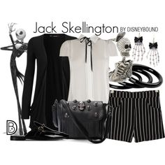 Jack Skellington by leslieakay on Polyvore featuring WearAll, MANGO, STELLA McCARTNEY, Furla, disney, disneybound and disneycharacter