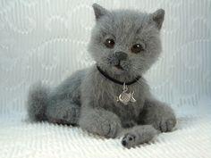 """Валяная игрушка Кошка Аска. Игрушка из шерсти. :: """"Игра в войлок"""""""