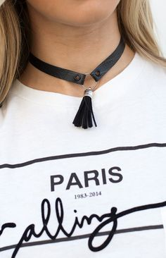 Lia & Co All Black Choker
