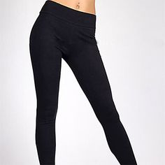 Women's Solid Blue/White/Black Skinny Pants , Casual – USD $ 7.99