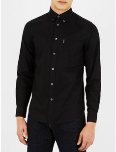 Ben Sherman. Classic Oxford Long Sleeve Shirt Black
