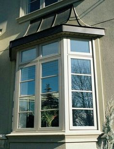 French Casement Windows, Metal Windows, Metal Roof, Bay Windows, Copper Roof, Interior Shutters, Curb Appeal, Architecture Design, New Homes