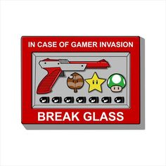 8a585707 In Case Of Gamer Invasion Break Glass Super Mario Men's T-Shirt by  Melonseta -. Cloud City 7