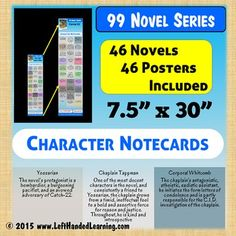 These POSTER QUALITY pdf image files are perfect for printing and handouts as bookmarks, binder inserts, testing aids, differentiation, scaffolding, posting in hallways or just great posters for your back to school bulletin boards! Students often forget which character is which and this easy reference helps keep them on track  and on task reading for higher reading comprehension levels and test scores.