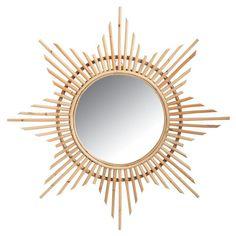 Miroir en rotin Etoile