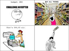 How I feel when I shop for concessions supplies