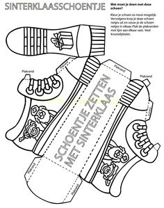 Shoe for Saint Nicholas (without text)Craft Shoe for Saint Nicholas (without text) Art For Kids, Crafts For Kids, Arts And Crafts, Shoe Crafts, Paper Crafts, Text Craft, St Nicholas Day, Theme Noel, Old Fashioned Christmas