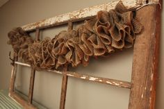 Burlap decor. @Rhonda Crawford this would be perfect for one of those walls!!!