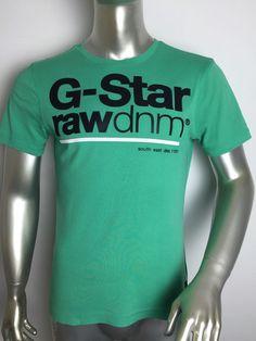 7eaba81ec5aa G Star Raw Denim Mens T Shirt Green Graphic Short Sleeve Large