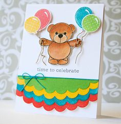 I scrap my way: Clearly Besotted July Release Teaser Day 4 Baby Birthday, Birthday Cards, Birthday Parties, Kids Cards, Baby Cards, Time To Celebrate, Birthday Balloons, Make A Wish, Hello Everyone