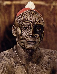 Africa | Kau Nuba Man | © From the 1976 publication: People of Kau - Photography & Text by Leni Reinfenstahl.