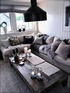 Black And Silver Living Room Ideas parts can add a contact of fashion and design to any residence. Black And Silver Living Room Ideas can imply many things to… Chic Living Room, Couches Living Room, Rustic Living Room, Black Living Room, Apartment Living Room, Farm House Living Room, Living Room Grey, Living Room Designs, Gray Living Room Design