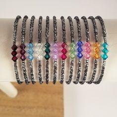 Birthstone bracelets in stock Seed Bead Bracelets, Jewelry Bracelets, Seed Beads, Friendship Bracelets, Beaded Rings, Beaded Jewelry, Handmade Beaded Bracelets, Pink Amethyst, Layered Bracelets