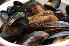 Mussels. With white wine, garlic, herbs. Brasserie by LM.