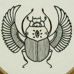 PDF pattern - Scarab Hand Embroidery Pattern (PDF modern embroidery pattern - Ancient Egypt) PDF pYou can find . Embroidery Patterns Free, Hand Embroidery Stitches, Modern Embroidery, Machine Embroidery Designs, Handkerchief Embroidery, Embroidery Monogram, Shirt Embroidery, Embroidery Techniques, Diy Shirt Print