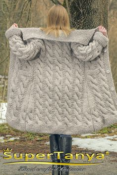 knitted mohair wool cardigan in beige, thick chunky handmade sweatercoat by SuperTanyaHand knitted mohair wool cardigan in beige, thick chunky handmade sweatercoat by SuperTanya Made to order hand knitted warm mohair cardigan in pale pink Mohair Sweater, Wool Cardigan, Sweater Coats, Beige Cardigan, Cardigan Pattern, Crochet Cardigan, Knit Crochet, Knitted Coat Pattern, Hand Knitting