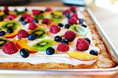Pioneer Woman's fruit pizza - I use her recipe for frosting and add some lemon zest.