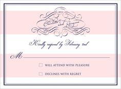 Printable Pink and White Stripe Glam Wedding by lilliankatewedding, $14.00