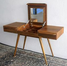 Solid Teak Writing Table/Dresser Table