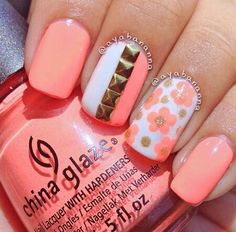 The studded one its so cool. Erg perfect nails can't wait to try designs like that on my nails once they grow back.
