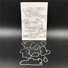 Hund Metall Stanzformen Schablonen für DIY Scrapbook/foto Dekorative Prägen DIY Papier Karten, Der Proje A727